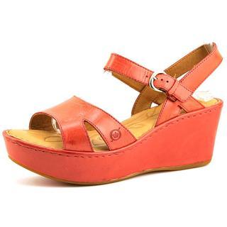 Born Women's Du Jour Red Leather Sandals