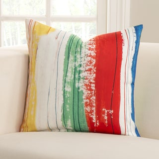 Sketchy Stripe Polyester Accent Pillow