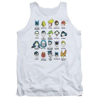 DC/Superhero Issues Adult Tank in White