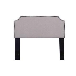Morden Full/Queen Nailhead Upholstered Fabric Headboard