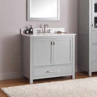 Avanity Modero 36-inch Vanity Only in Chilled Grey Finish