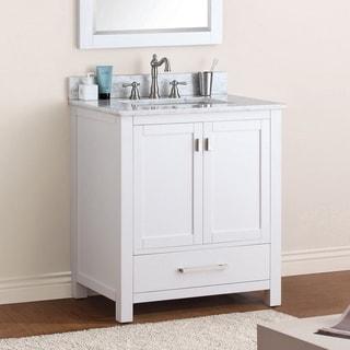 Avanity Modero 30-inch White Finish Vanity Only