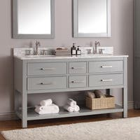 Avanity Brooks 60-inch Chilled Gray Finish Vanity