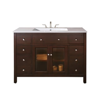 Avanity Lexington 48-inch Light Espresso Finish Vanity Only