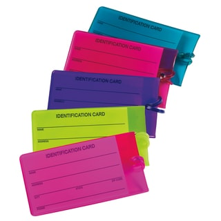 Travel Smart by Conair Jelly Luggage Tags Assorted Colors 2-count