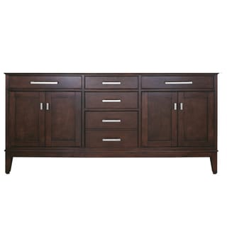 Avanity Madison 72-inch Light Espresso Finish Vanity Only