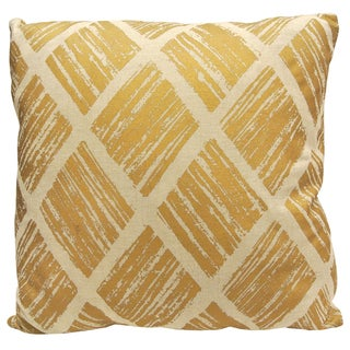 Diamond by Artistic Linen Microfiber Metallic Decorative Throw Pillow