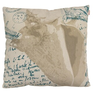 Coastal Map and Seashell Polyester Throw Pillow