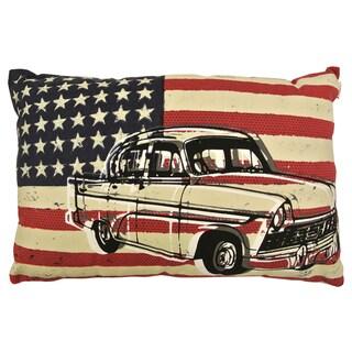 Artistic Linen American Chevy Decorative Lumbar Throw Pillow