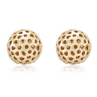 Yellow Goldplated Filigree Ball Stud Earrings