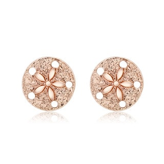 Rose-goldplated Wheel Stud Earrings