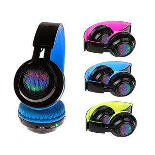 Xtreme Neon Remix Bluetooth Wireless Foldable Heaphones With Microphone and SD Card Slot
