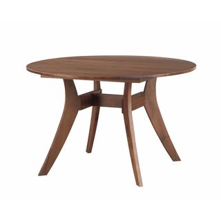 Aurelle Home Gilbert Round Dining Table Walnut 42""