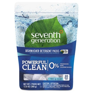 Seventh Gen. 20 Packet Natural Dishwasher Detergent Concentrated Packs (Pack of 12)
