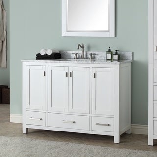 Link to Avanity Modero 49-inch Single Vanity in White Finish with Sink and Top Similar Items in Bathroom Vanities