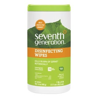 Seventh Gen. 70 Count, 7 x 8 Botanical Disinfecting Wipes (Pack of 6)