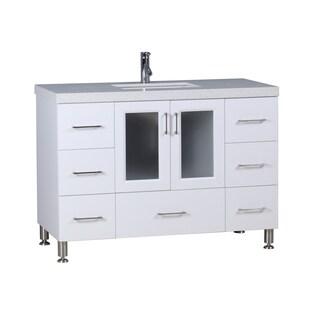 "Design Element Westfield 48"" Single Sink Vanity in White"