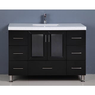 Design Element Westfield 48 Inch Quartz Espresso Single Sink Vanity
