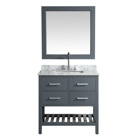 London 36-inch Grey Single Sink Vanity Set