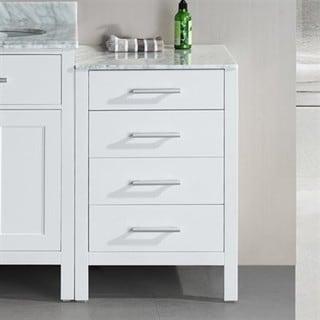 London 20-inch White Bathroom Vanity Cabinet