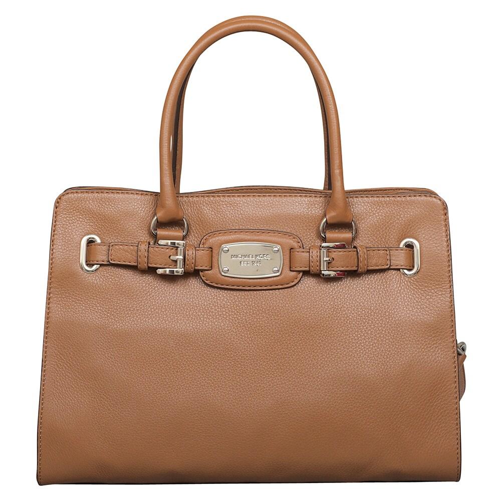 Michael Kors Hamilton EW Tote Bag (Luggage), Women's, Bro...