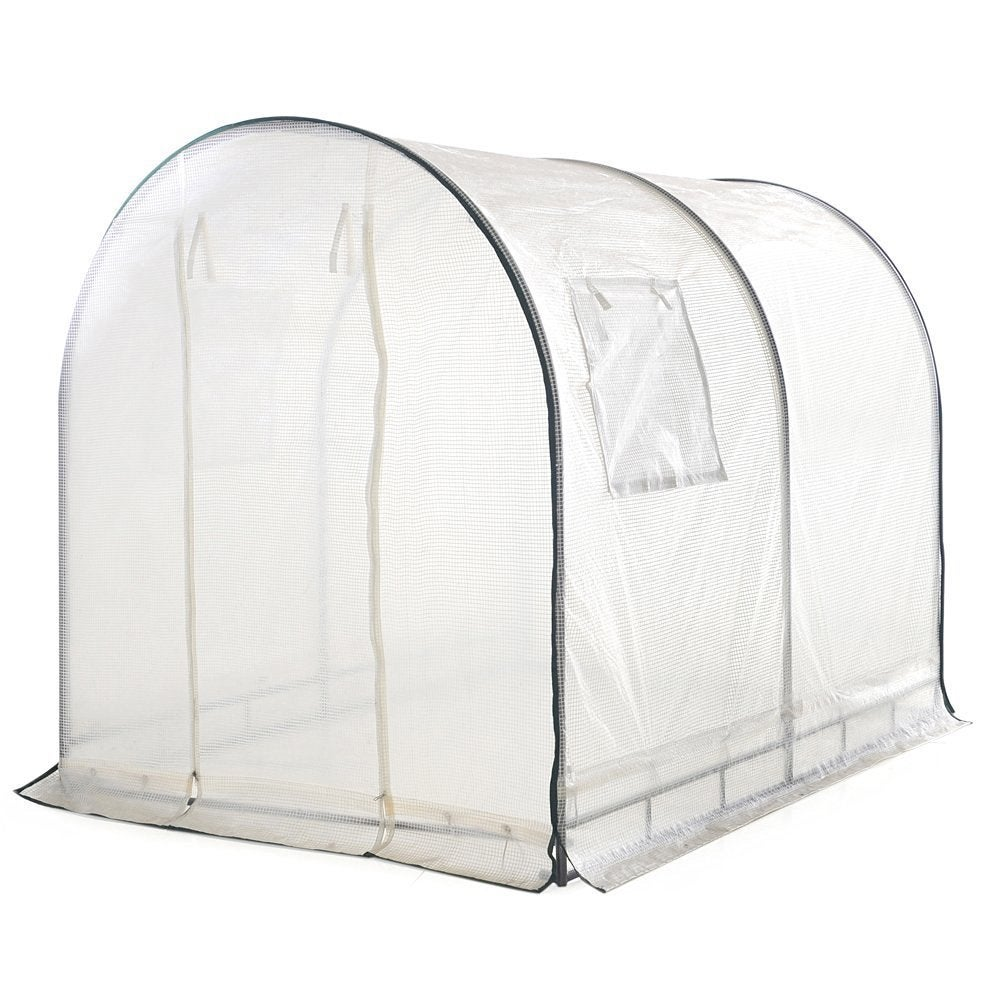 ABBA White 6' x 6.6' x 8' Outdoor Fully Enclosed Portable...