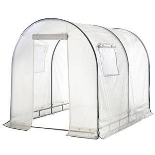Abba White 6' x 6.6' x 8' Outdoor Fully Enclosed Portable Walk-in Greenhouse Tent