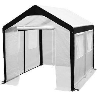 Abba Patio White Steel Enclosed Greenhouse with Windows