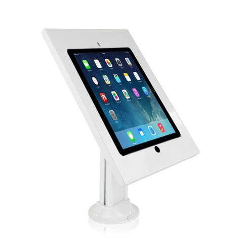 Pyle White Steel Tamper-proof Anti-theft Display Kiosk for 12.9-inch iPad Pro