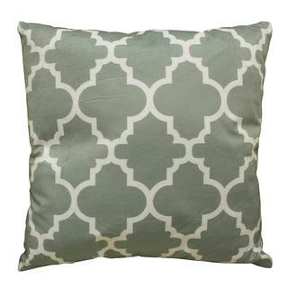 DonnieAnn Bellagio Blue Grey Trellis Print 18-inch x 18-inch Accent Pillow