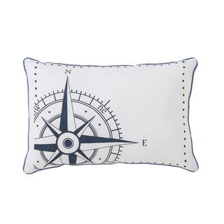 "VCNY Durham Nautical 12""x18"" Decorative Pillow"