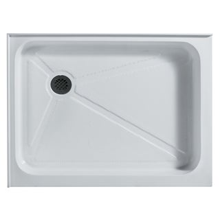 VIGO 36 x 48 Rectangular Shower Tray White Left Drain