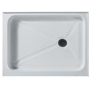 VIGO 32 x 48 Rectangular Shower Tray White Right Drain