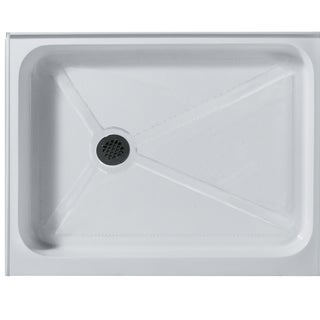 VIGO 32 x 48 Rectangular Shower Tray White Left Drain