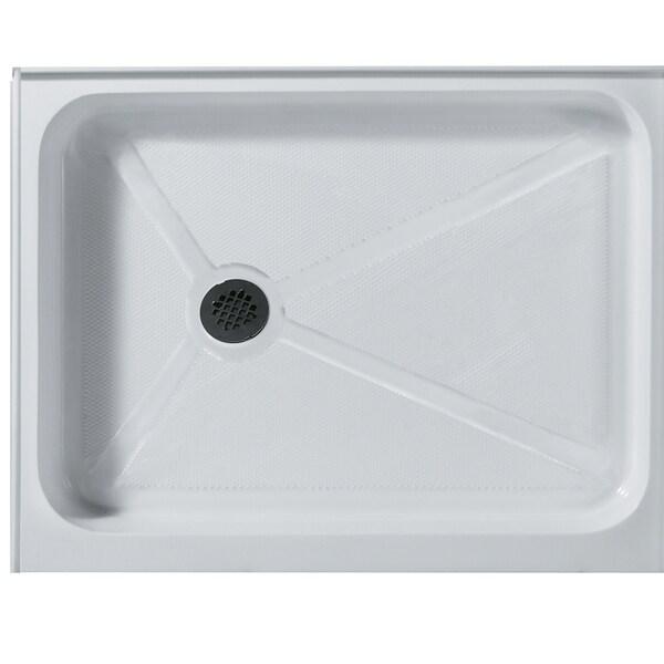 Shop Vigo 32 X 48 Rectangular Shower Tray White Left Drain