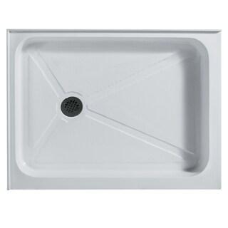 VIGO 32 x 40 Rectangular Shower Tray White Right Drain