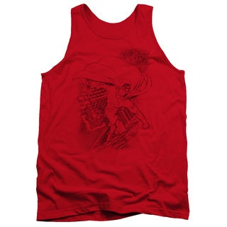 Superman/In The City Adult Tank in Red