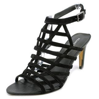 Franco Sarto Women's Spruce Black Regular Suede Sandals