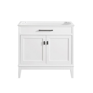 Avanity Madison White-finished Wood and Brass 36-inch Vanity