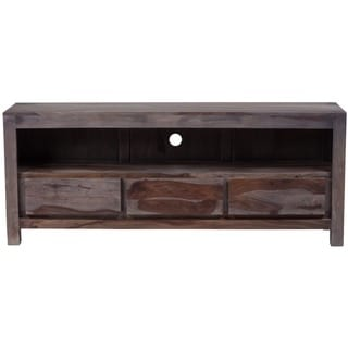 Wanderloot Big Sur Grey Wash Sustainable Sheesham Wood Television and Entertainment Stand