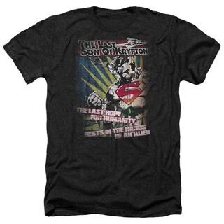 Superman/Last Hope Adult Heather T-Shirt in Black