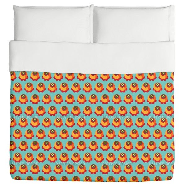 Buddy Orange Duvet Cover