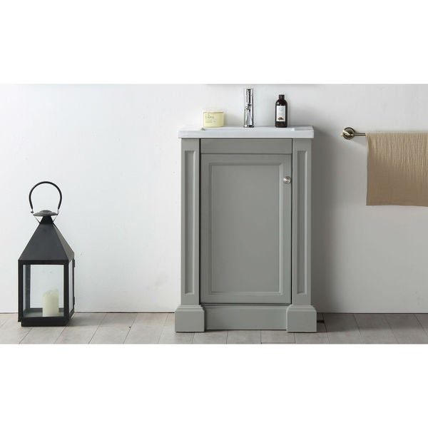 Legion Furniture  Inch Cool Grey Single Sink Vanity With Ceramic Top