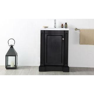 Legion Furniture 24-inch Espresso Ceramic Top Single Sink Vanity