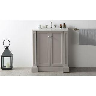"Legion Furniture 30"" Warm Grey Single Sink Vanity with Quartz Top"