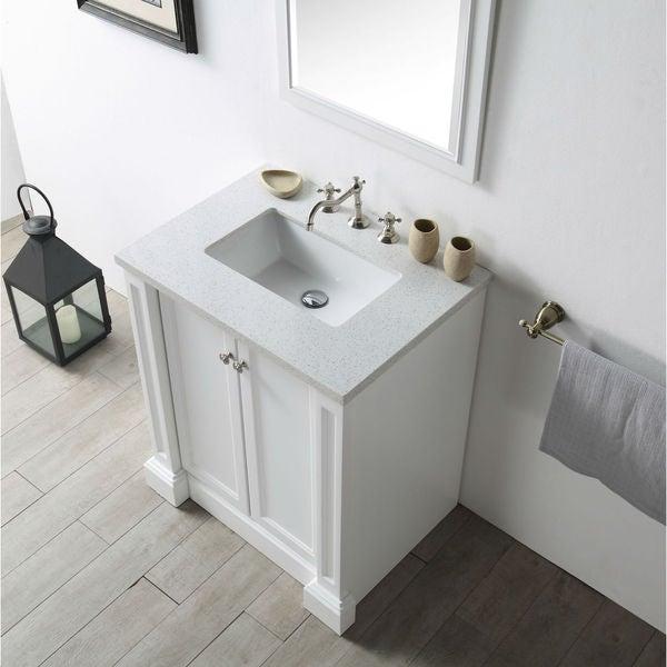 Shop Legion Furniture Quartz Top 30 Inch White Single Sink