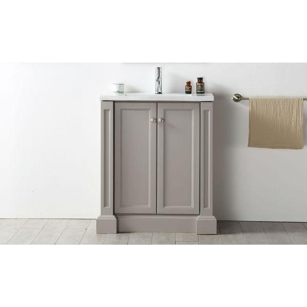 Legion Furniture 30-inch Warm Grey Ceramic-top Single Sink Vanity