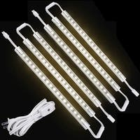 LED Concepts 6-pack Under Cabinet Warm White 12-inch Linkable LED Light Bars