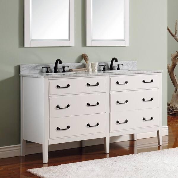 Shop Avanity Delano 60 Inch Double Sink Vanity Only Overstock