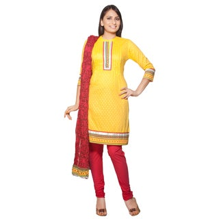 Handmade In-Sattva Women's Indian Embroidery 3-piece Ensemble (India)